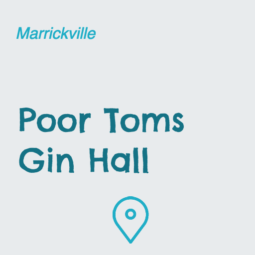 Poor Toms Gin Hall on Pupsy